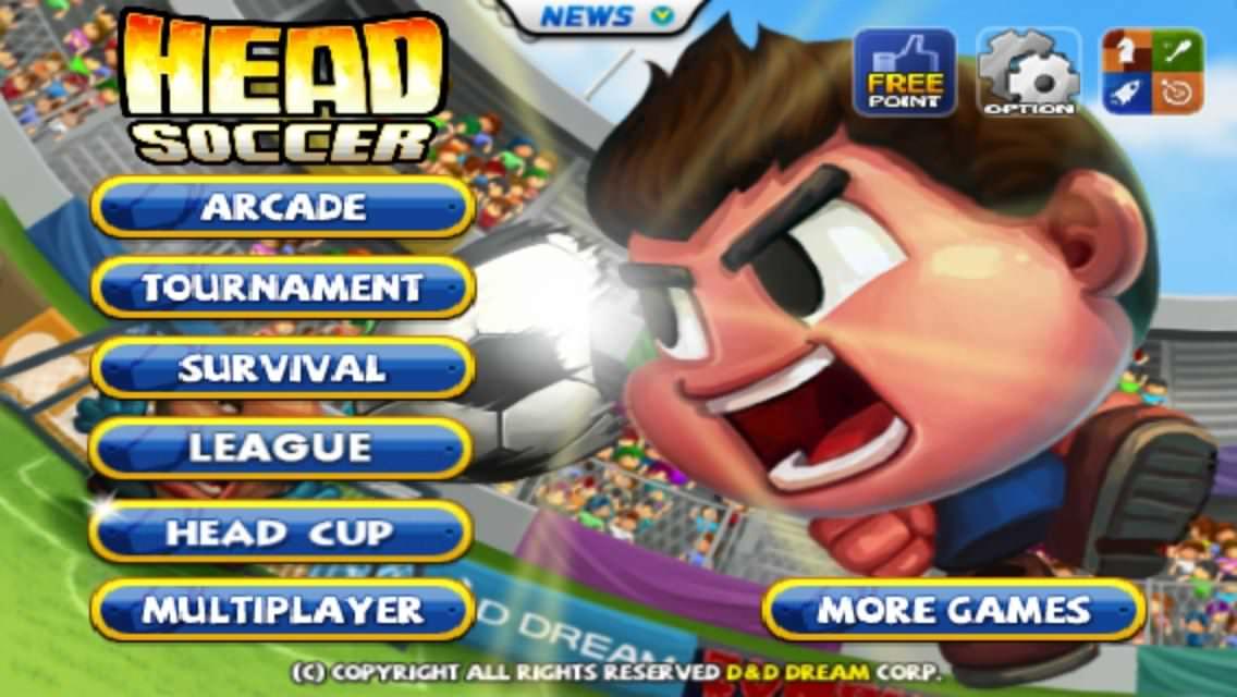 Fußball-Game für das Smartphone